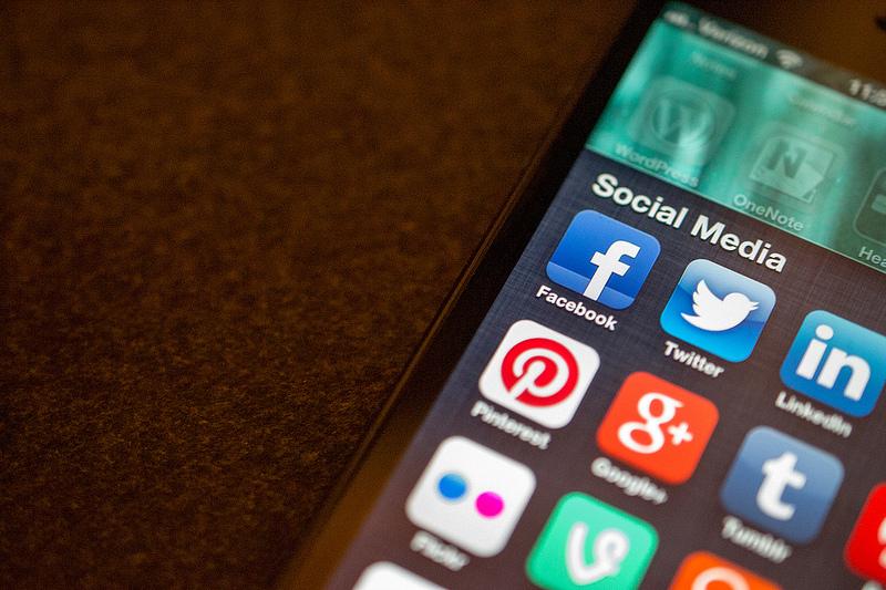 Social media on mobile device